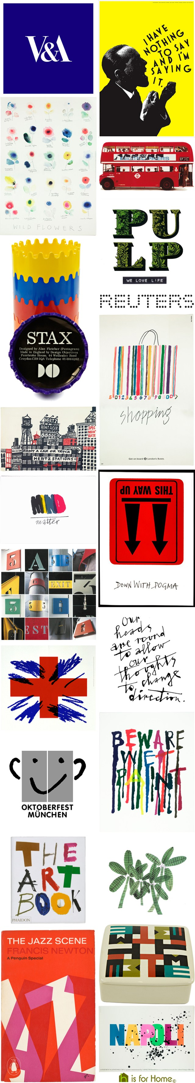 Mosaic of Alan Fletcher designs | H is for Home