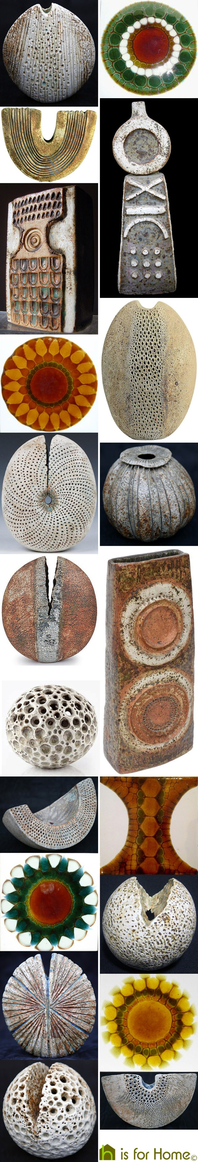 Mosaic of Alan Wallwork studio pottery | H is for Home
