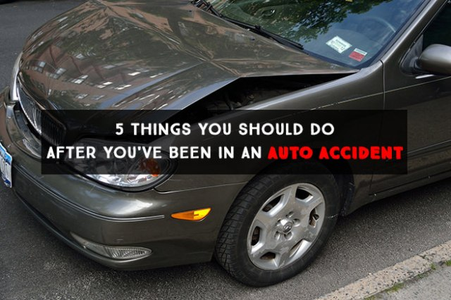 5 things you should do after you've been in an auto accident