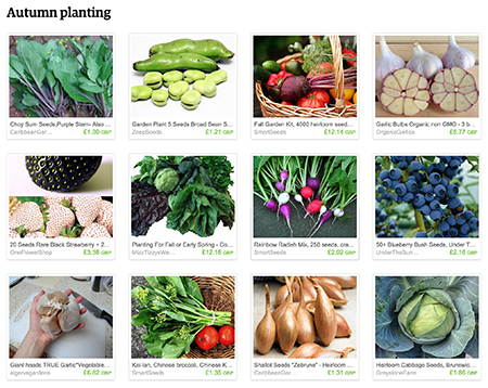 'Autumn planting' Etsy List curated by H is for Home