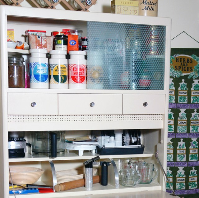 Baking essentials inside my vintage kitchenette | H is for Home