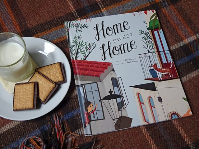 Home Sweet Home children's book by Mia Cassany and illustrated by Paula Blumen | H is for Home