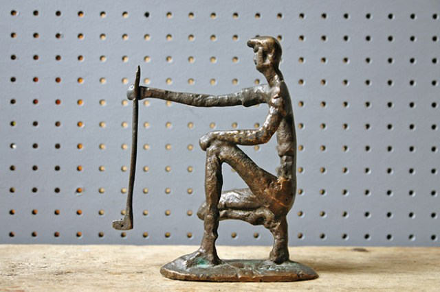 Mid century modern bronze golfer figure | H is for Home