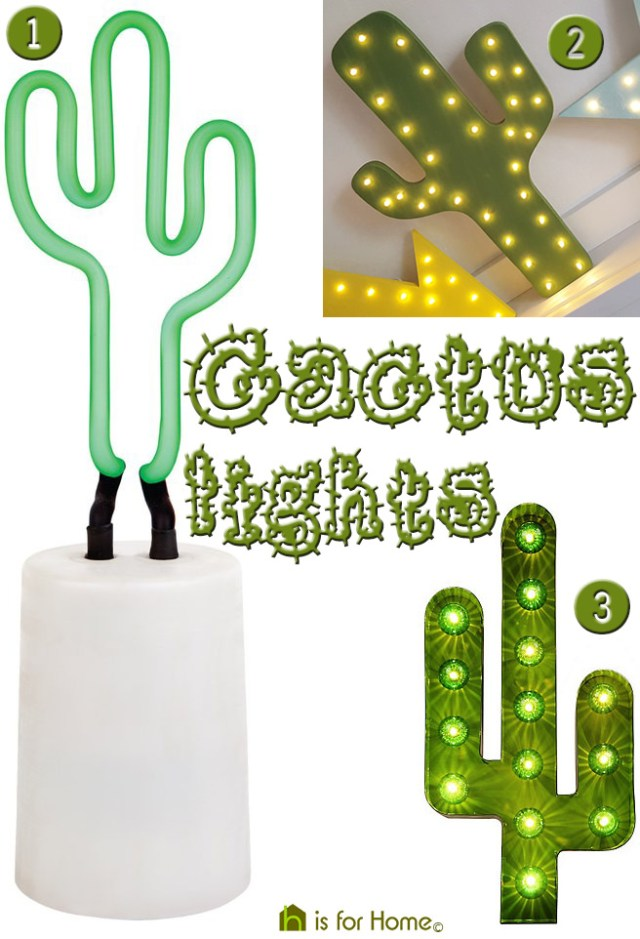 Various cactus lights | H is for Home