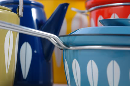 Multicoloured group of Cathrineholm enamelware