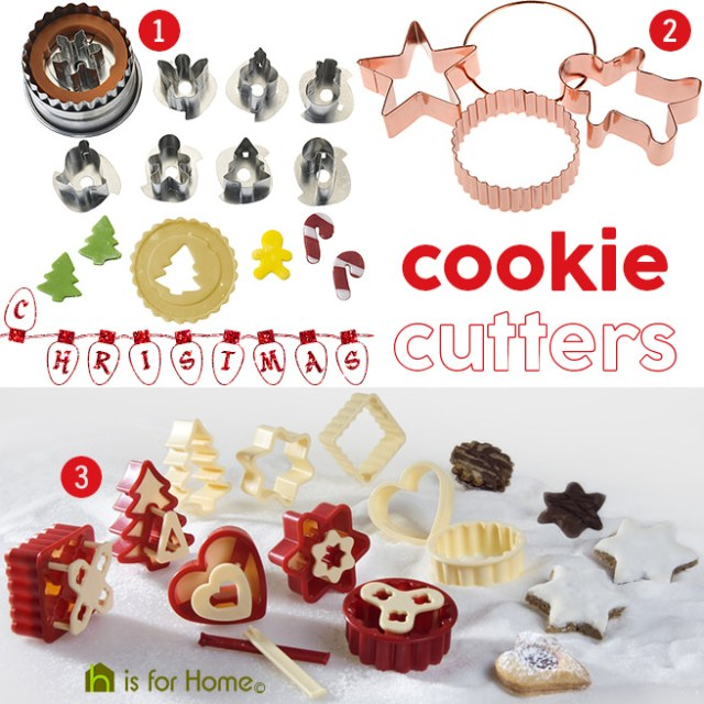 Selection of Christmas cookie cutters | H is for Home