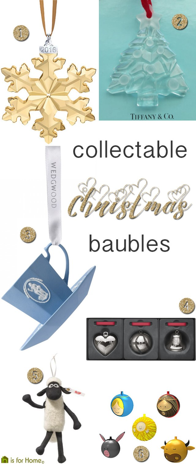 Collectable Christmas baubles | H is for Home