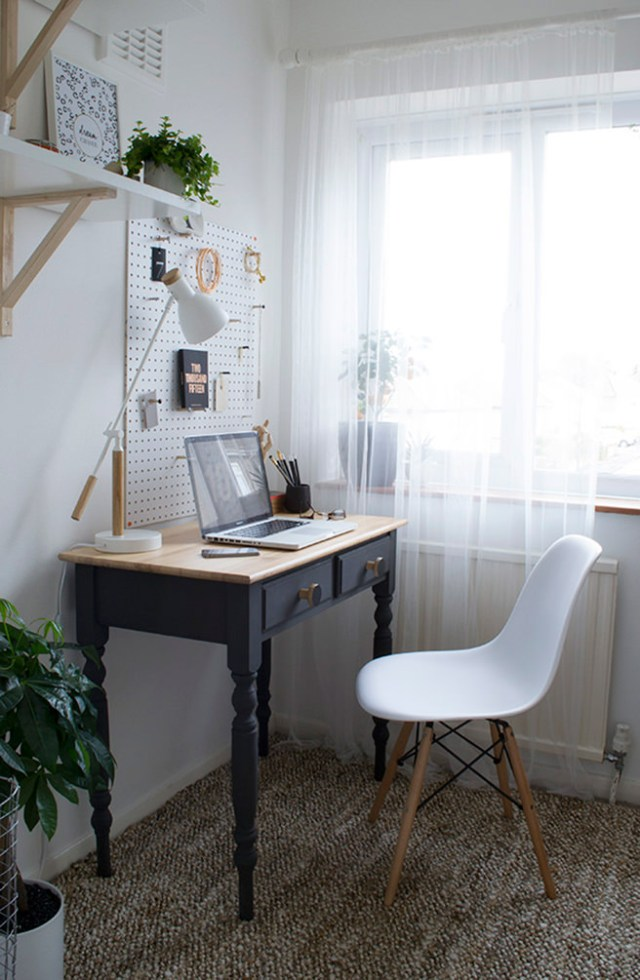 Compact home office corner