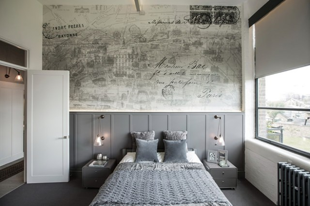 Bedroom in a converted factory