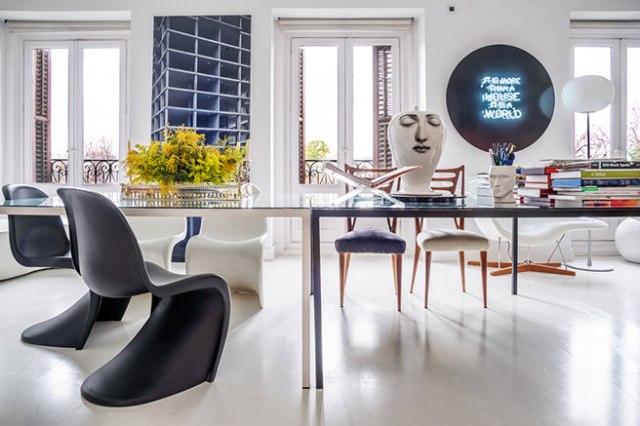 Design-led monochrome work room