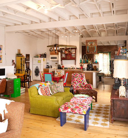 Eclectic loft apartment