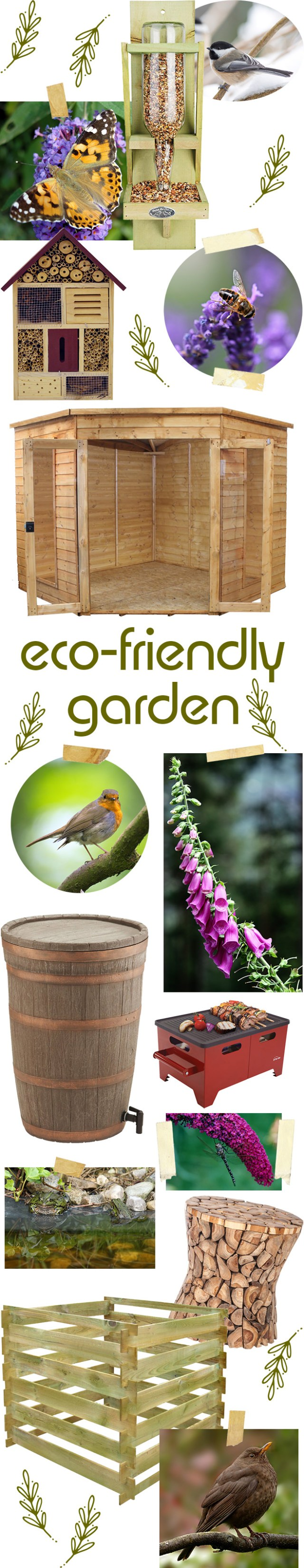 Eco-friendly garden mood board in collaboration with Wayfair | H is for Home
