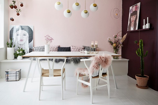 Feminine Scandi dining room