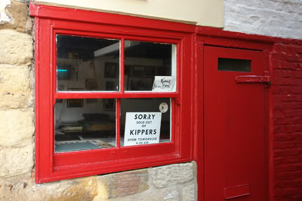 Fortunes kipper shop & smokehouse window, Whitby | H is for Home