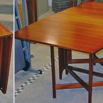 Charity Vintage: Gate leg drop leaf table