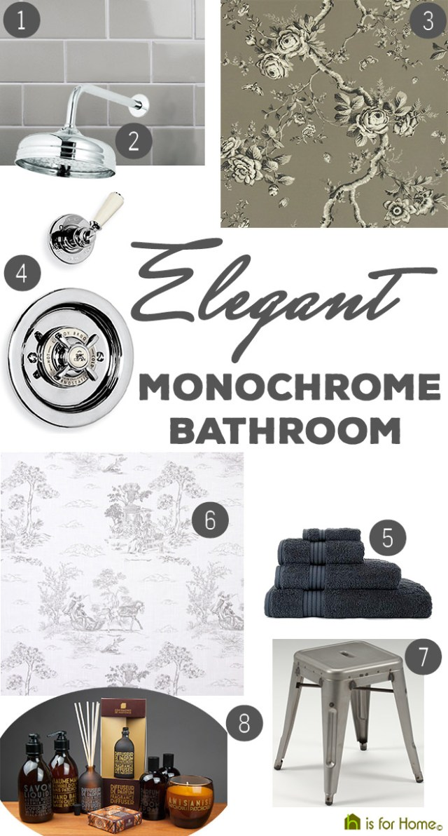 Get their look: Elegant monochrome bathroom | H is for Home