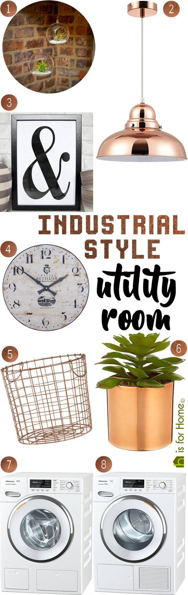 Get their look: Industrial style utility room | H is for Home