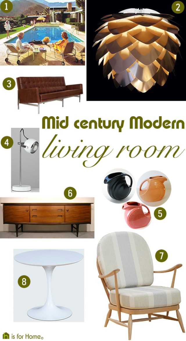 Get their Look: Mid-Century Modern living room | H is for Home
