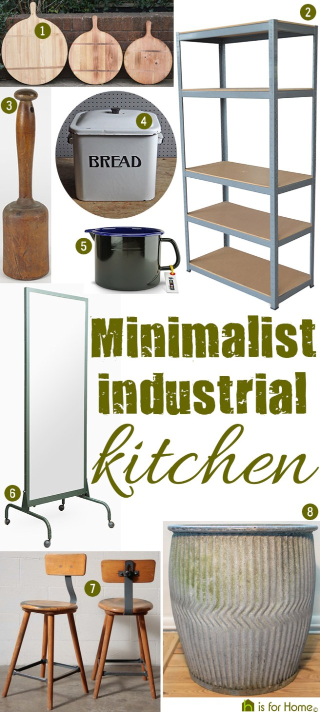 Get their look: Minimalist industrial kitchen | H is for Home