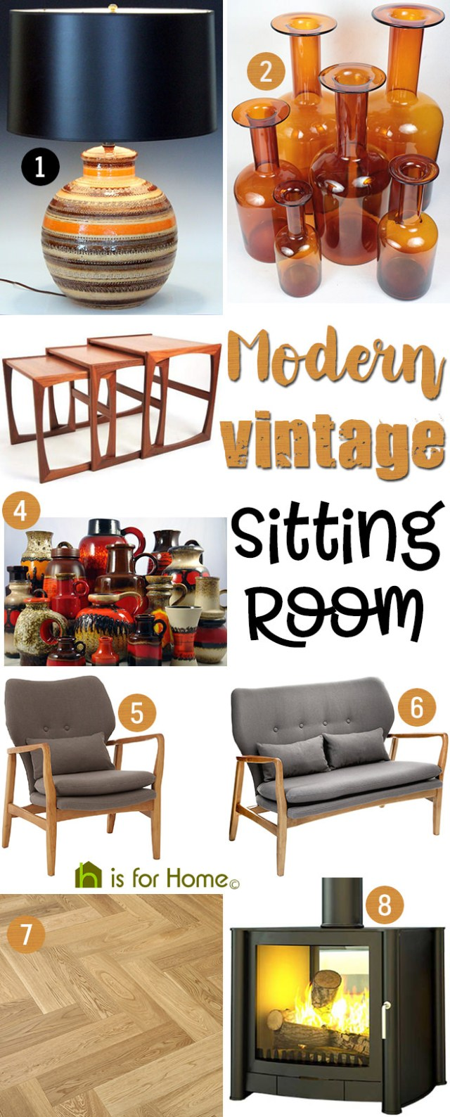 Get their look: Modern vintage sitting room | H is for Home