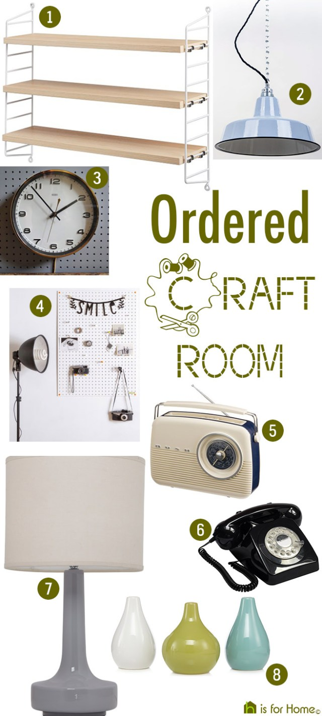 Get their look: ordered craft room | H is for Home