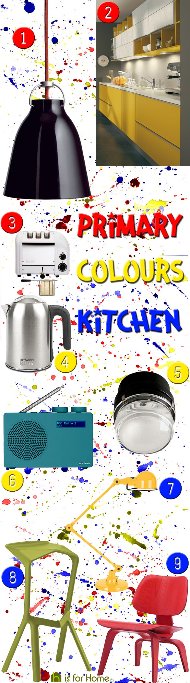Get their look: Primary colours kitchen | H is for Home