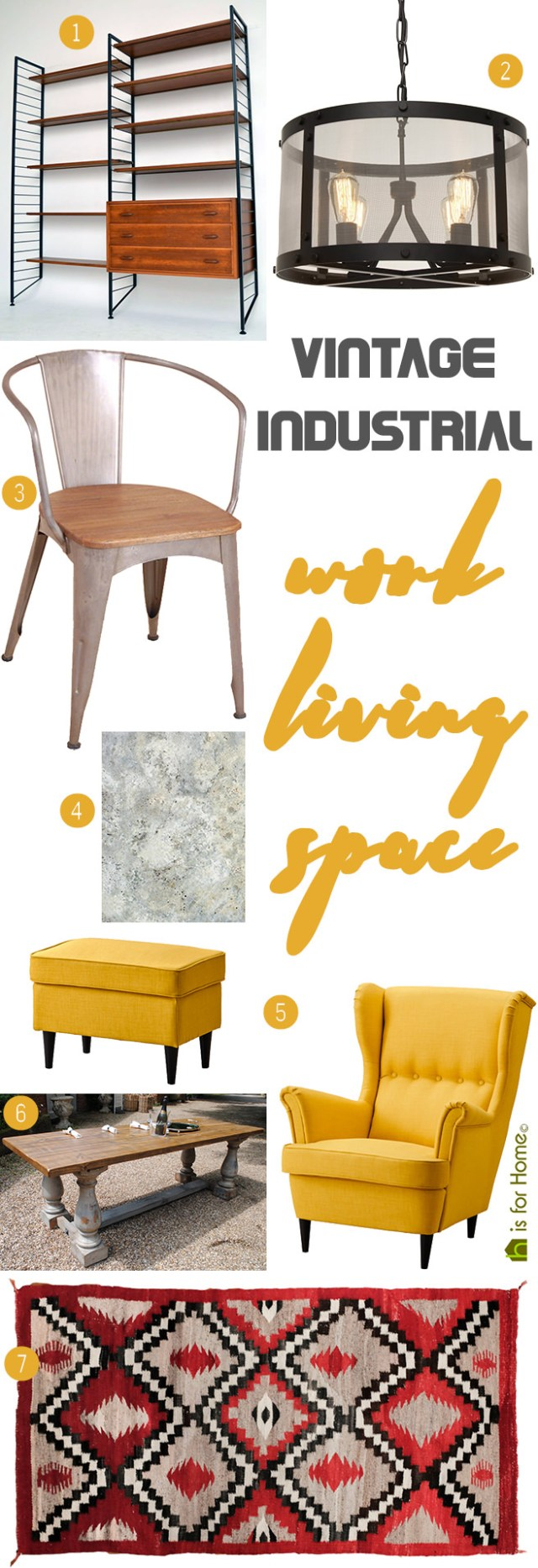 Get their Look: Vintage industrial work-living space | H is for Home