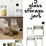 Gimme Five! Glass storage jars