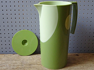 Two-tone green water / juice jug | H is for Home