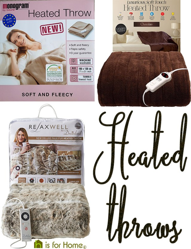 Selection of heated throws | H is for Home