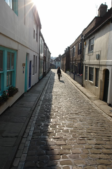 Henrietta Street, a cobbled street in Whitby | H is for Home