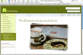 Screenshot of H is for Home website front page