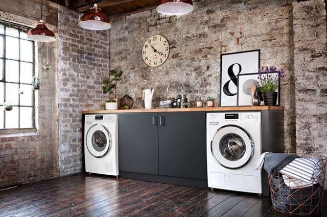 Industrial style utility room