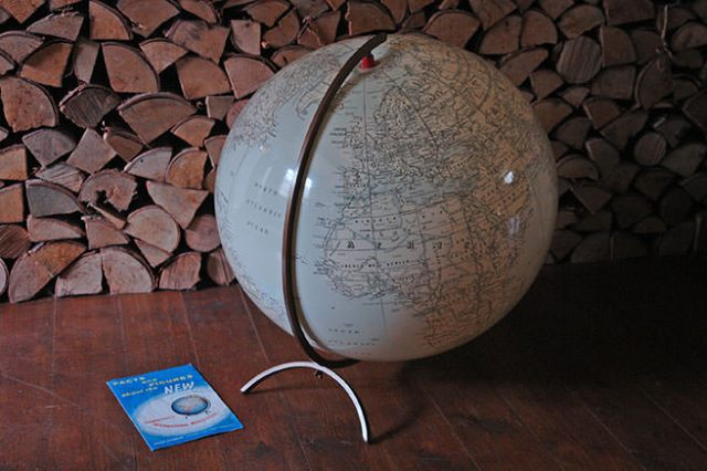 Vintage inflatable globe | H is for Home
