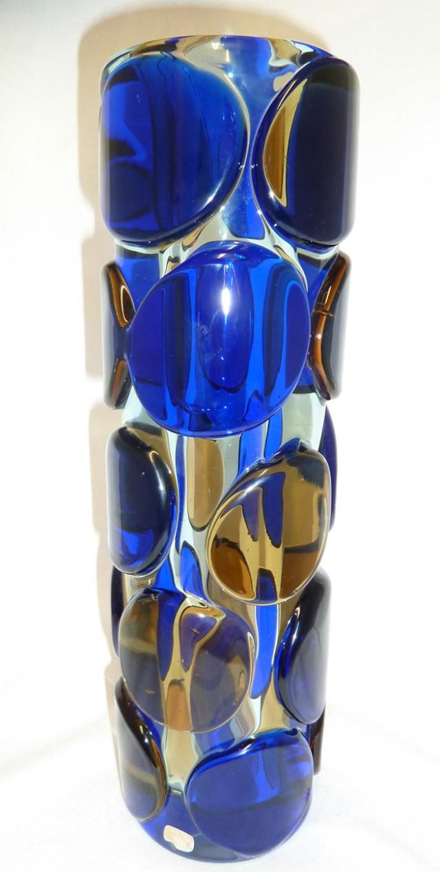 Jaroslav Svoboda - a glass cylinder vase