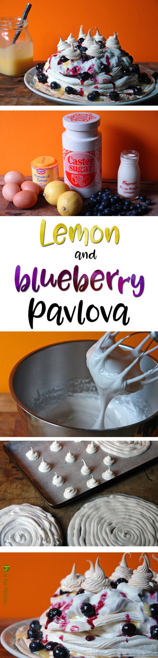 Home-made lemon and blueberry pavlova | H is for Home