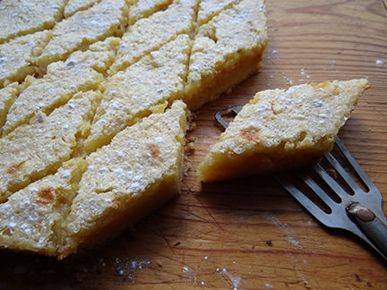 Lemon marmalade bars