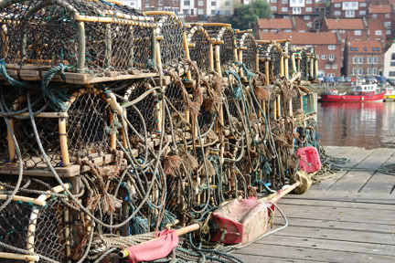 Lobster pots in the harbour at Whitby | H is for Home