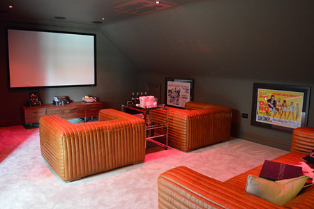 luxe home cinema room