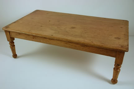 Antique miniature pine table | H is for Home