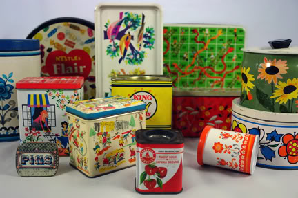 Collection of vintage tins | H is for Home