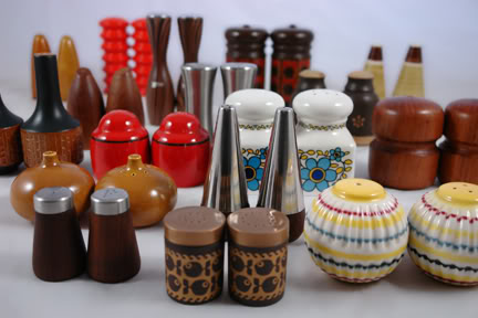 Collection of vintage salt & pepper shakers | H is for Home