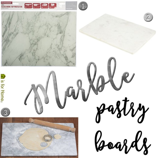 Marble pastry boards | H is for Home