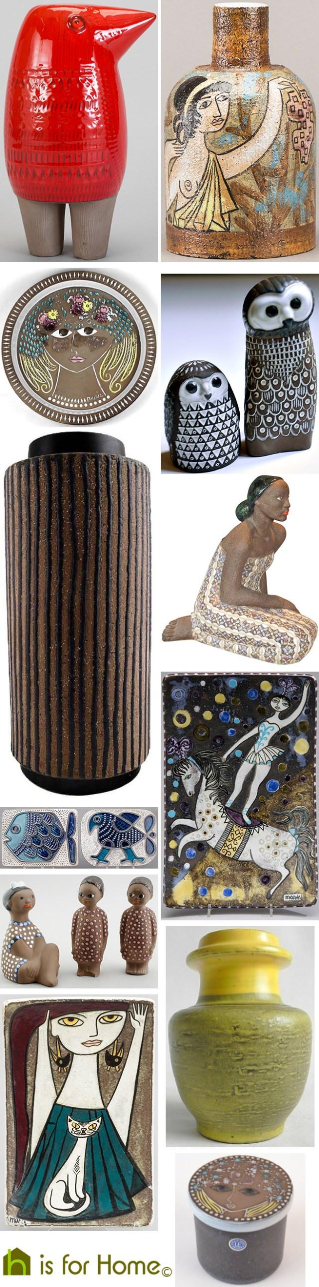 Mosaic of Mari Simmulson designs | H is for Home