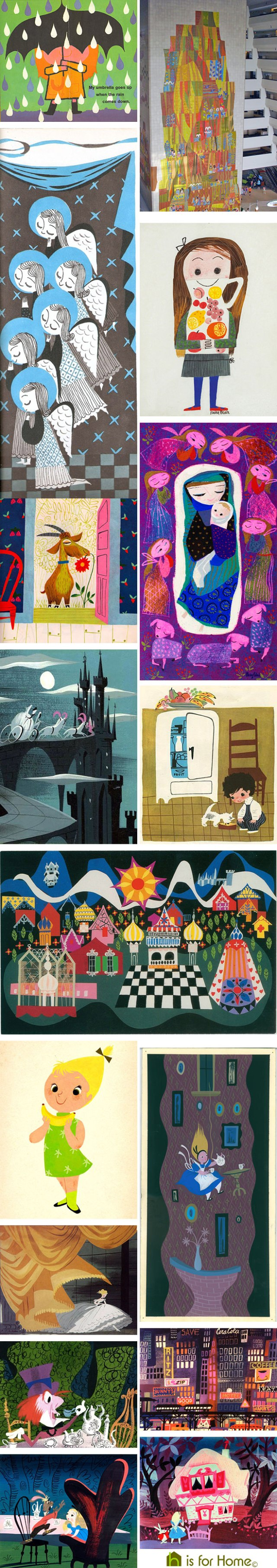 Mosaic of Mary Blair artworks | H is for Home