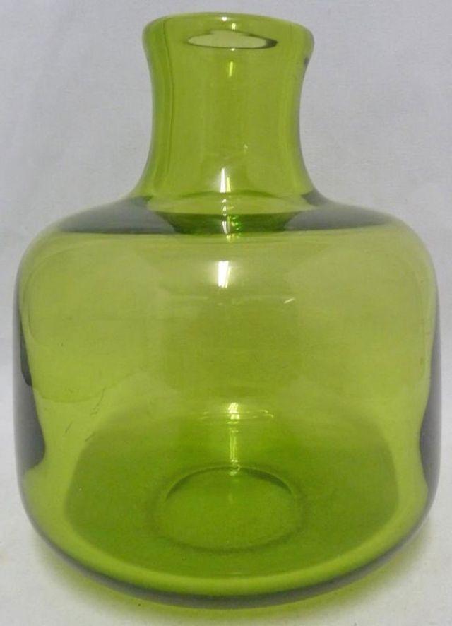 Per Lutkin /Christer Holmgren for Holmegaard green glass vase