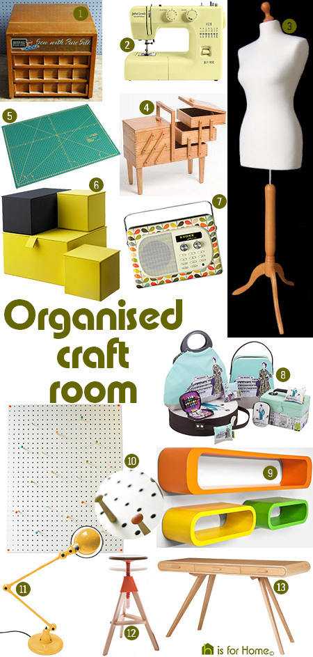 'Organised craft room' mood board