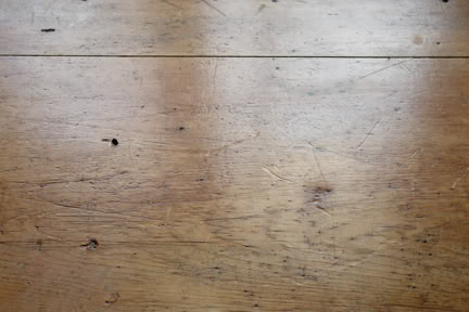 showing the patina of miniature pine table