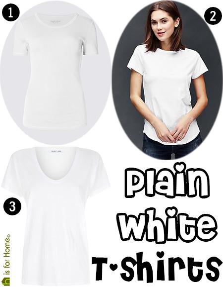 Trio of plain white- T-shirts