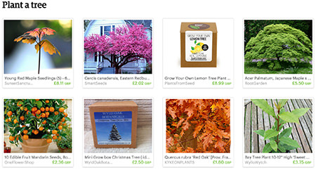 'Plant a tree' Etsy List curated by H is for Home